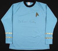 "DeForest Kelley Signed ""Star Trek"" Prop Replica Uniform Shirt (PSA COA)"