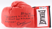 Earnie Shavers Signed Everlast Boxing Glove with Extensive Inscription Referencing Muhammad Ali (PSA COA & Earnie Shavers Hologram)