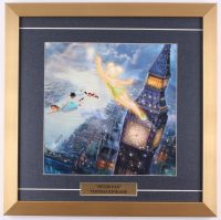 "Thomas Kinkade ""Tinker Bell and Peter Pan Fly to Neverland"" 18x18 Custom Framed Print Display"