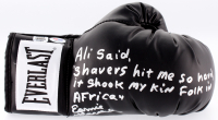 Earnie Shavers Signed Everlast Boxing Glove with Extensive Inscription Referencing Muhammad Ali (PSA COA & Shavers Hologram)