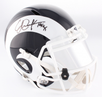"Eric Dickerson Signed Rams Full-Size Speed Helmet With Mirrored Visor Inscribed ""HOF 99"" (JSA COA) at PristineAuction.com"