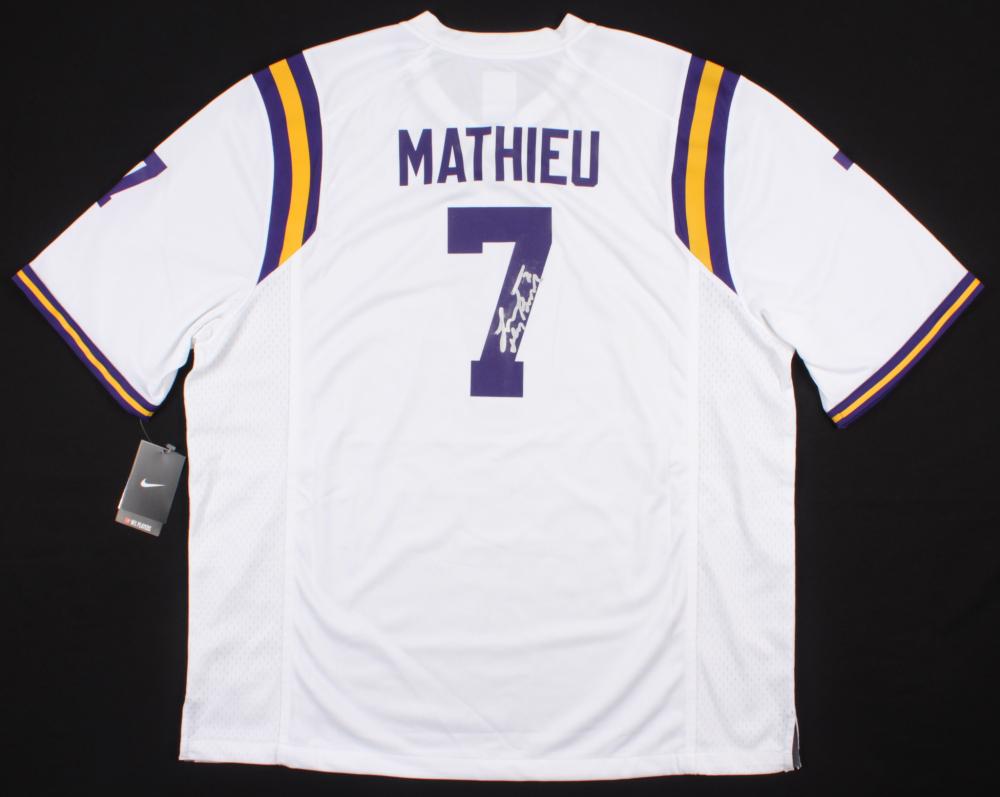 tyrann mathieu signed lsu jersey
