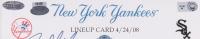 Derek Jeter, Joe Girardi & Jason Giambi Signed Yankees 15x21 Custom Framed 2008 Game-Used Line-Up Card (Steiner Hologram & MLB Hologram) at PristineAuction.com