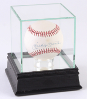 Mickey Mantle Signed OAL Baseball with High Quality Display Case (JSA ALOA)