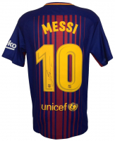 "Lionel Messi Signed Nike Barcelona Jersey Inscribed ""Leo"" (Icons COA)"