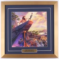 "Thomas Kinkade Walt Disney ""Lion King"" 18x18 Custom Framed Print Display"