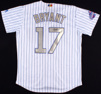 Kris Bryant Signed Cubs Majestic Jersey with 2016 World Series Patch (JSA LOA)