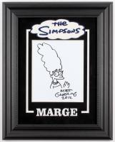 "Matt Groening Signed ""The Simpsons"" Custom Framed 16x20 Hand-Drawn Sketch of Marge Simpson on Canvas Inscribed ""2012"" (JSA ALOA)"