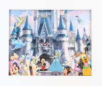 Vintage Disney 11x13 Custom Matted Photo Display with (4) Pins
