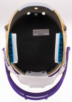 Sefton Diggs Signed Vikings Custom Matte Gold Full-Size Helmet (JSA COA) at PristineAuction.com