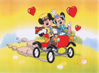 "Walt Disney Mickey Mouse & Minnie Mouse ""Nifty Nineties"" LE 11x14 Animation Serigraph Cel"