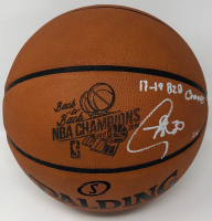 """Stephen Curry Signed """"Back-to-Back NBA Champions"""" LE Official NBA Game Ball Basketball Inscribed """"17-18 B2B Champs"""" (Steiner COA) at PristineAuction.com"""
