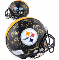 Steelers Super Bowl Champions Full-Size Authentic On-Field Helmet Team-Signed by (28) with Ben Roethlisberger, Jerome Bettis, Hines Ward, Bill Cowher, James Harrison (Fanatics Hologram) at PristineAuction.com