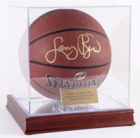 Larry Bird Signed NBA Basketball with Display Case (PSA COA)