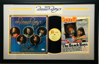 Beach Boys 19x30 Custom Framed Record & Magazine Display Signed by (4) with Carl Wilson, Mike Love, Bruce Johnston & Brian Wilson (JSA COA)