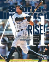 "Aaron Judge Signed New York Yankees 16x20 LE Sports Illustrated Cover Photo Inscribed ""2017 AL ROY"", "".284 AVG"", ""52 HR's"", ""114 RBI's"" & ""127 BB's."" (Fanatics Hologram) at PristineAuction.com"