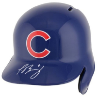 Javier Baez Signed Chicago Cubs Full-Size Batting Helmet (Fanatics Hologram & MLB Hologram) at PristineAuction.com