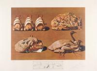 """Salvador Dali Signed 1977 LE """"Les Caprices Pinces Princiers"""" 22x29.5 Lithograph (PA LOA)"""