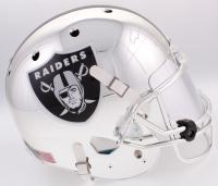 Khalil Mack Signed Raiders Full-Size Custom Chrome Helmet With Mirrored Visor (JSA COA)
