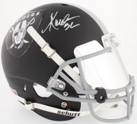 Marcus Allen Signed Raiders Full-Size Custom Matte Black Helmet with Mirrored Visor (Beckett COA)