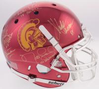 USC Trojans Heisman Winners Full-Size Authentic On-Field Chrome Helmet Signed by (5) With Carson Palmer, Matt Leinart, Charles White, Marcus Allen With Multiple Heisman Inscriptions (Radtke COA)