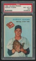 1954 Wilson Franks #11 Harvey Kuenn (PSA 8) (Miss Cut)