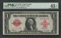 1923 $1 One Dollar Red Seal Large Size Legal Tender Bank Note (PMG 45) (EPQ)