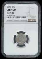 1871 3¢ Three-Cent Nickel (NGC Genuine, VF Details) at PristineAuction.com