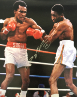 Sugar Ray Leonard Signed 16x20 Photo (Beckett COA)