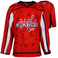 2018 Capitals Authentic Adidas Jersey Team-Signed by (22) with Alex Ovechkin, Evgeny Kuznetsov, Brooks Orpik, Jay Beagle, Lars Eller #/100 (Fanatics Hologram)