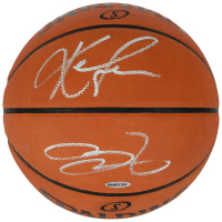 LeBron James & Kevin Love Signed NBA Official Game Basketball (UDA COA)
