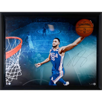 "Ben Simmons Signed 76ers ""Breaking Through"" 40x52 Custom Framed Basketball Display (UDA COA)"
