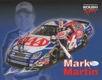 Mark Martin Signed NASCAR 8.5x11 Photo (JSA COA)