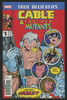 "Stan Lee Signed 2017 ""Cable and The New Mutants"" Issue #1 Marvel Comic Book (Lee COA)"