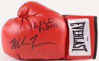 Mike Tyson & Evander Holyfield Signed Everlast Boxing Glove (PSA COA)