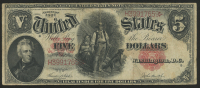 1907 $5 Five Dollars Legal Tender Large Bank Note