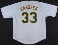 "Jose Canseco Signed Athletics Jersey Inscribed ""Juiced"" (JSA COA)"