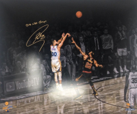 """Stephen Curry Signed Golden State Warriors 20x24 LE Photo Inscribed """"2018 NBA Champs"""" (Steiner COA) at PristineAuction.com"""