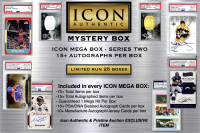 ICON MEGA BOX SERIES 2 – Autograph Mystery Box with 15+ Autographs items per BOX