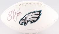 Brian Dawkins Signed Eagles Logo Football (JSA COA & Sports Vault COA) at PristineAuction.com