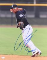 """Gleyber Torres Signed Yankees 16x20 Photo Inscribed """"Go Yankees"""" (JSA Hologram)"""