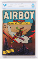 "1945 ""Airboy Comics"" Volume 2 Issue #11 Hillman Comic Book (CBCS 8.0)"