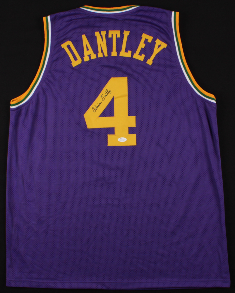 Adrian Dantley Signed Jazz Jersey (JSA COA) at PristineAuction.com d46b4bbbe