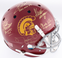 USC Trojans Full-Size Authentic On-Field Helmet Signed by (5) with Charles White, Marcus Allen, Matt Leinart with (5) Heisman Inscriptions (Radtke COA) at PristineAuction.com