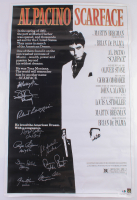 """""""Scarface"""" 25x38.75 Poster Signed by (10) with Michelle Pfeiffer, Steven Bauer, Robert Loggia, Angel Salazar (Sports Integrity COA & Authentic Signings Hologram)"""