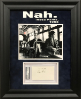 "Rosa Parks Signed 18x22 Custom Framed Cut Display Inscribed ""4/22/93"" (PSA Encapsulated)"