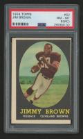 1958 Topps #62 Jim Brown RC (PSA 8) (MC)