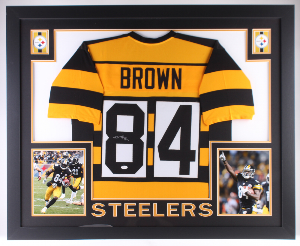 Antonio Brown Signed Steelers 35x43 Custom Framed Jersey (JSA COA)(Imperfect)  at 3f48d7f1f