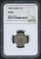 1883 5¢ Shield Nickel (NGC PF 63)