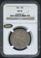1861 50¢ Seated Liberty Half Dollar (NGC AU 55) (Littleton Select)